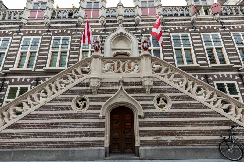 Stadthuis, facade of city hall in Alkmaar, North Holland, royalty free stock photos