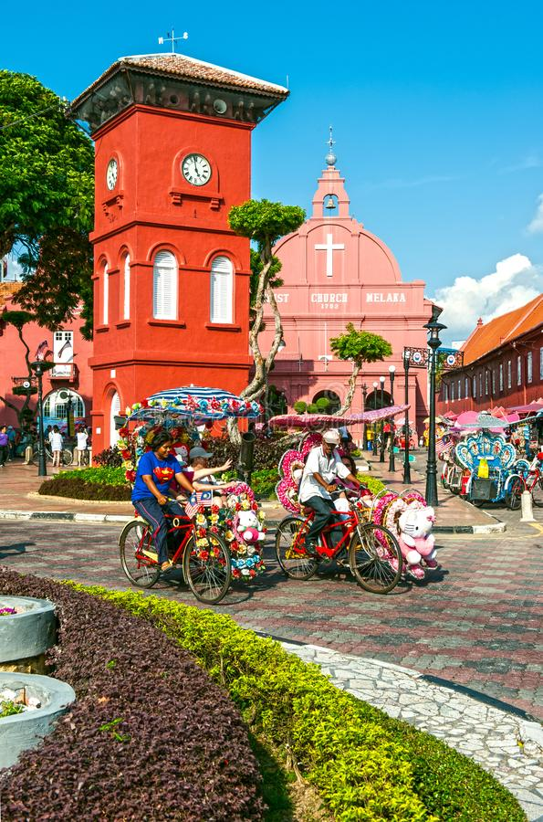 Stadthuys. The Stadthuys is a historical structure situated in the heart of Malacca City, the administrative capital of the state of Malacca, Malaysia in a place stock photo