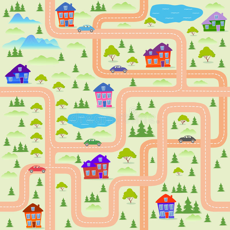 Stadtkarte stock abbildung