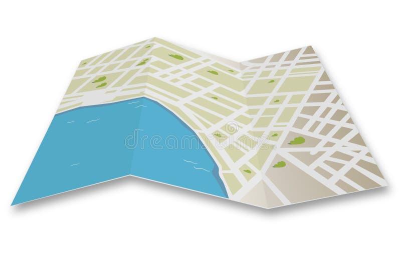 Stadtkartenvektor stock abbildung