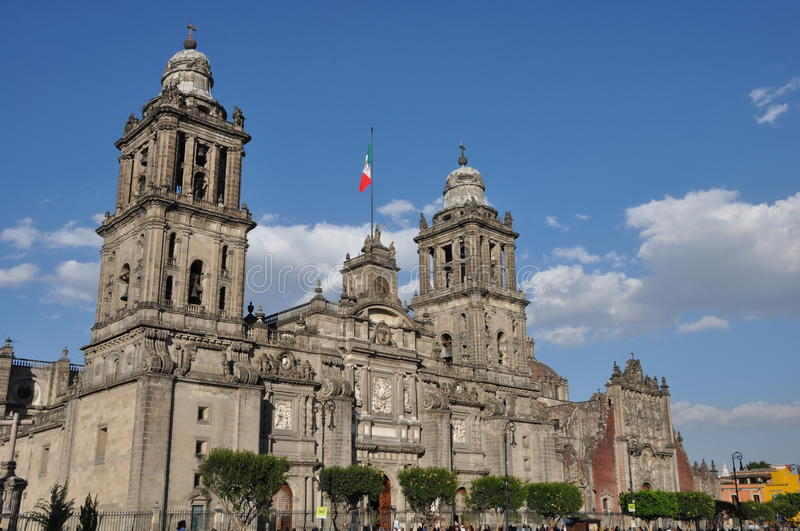 Stadtkathedrale in Mexiko City lizenzfreie stockfotos