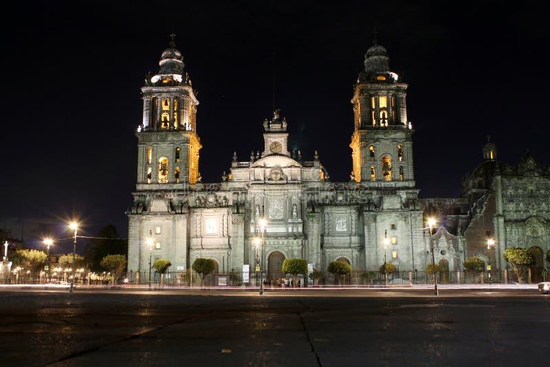 Stadtkathedrale von Mexiko stockfotos