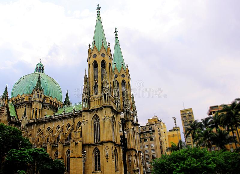 Stadtkathedrale von São Paulo lizenzfreies stockbild