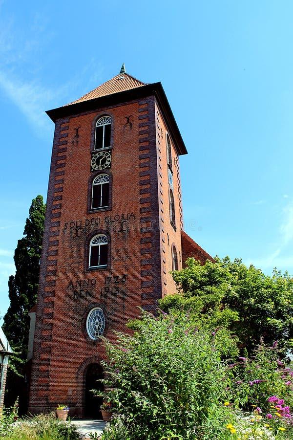Stadtkirche Preetz - Frontalansicht stockfotografie