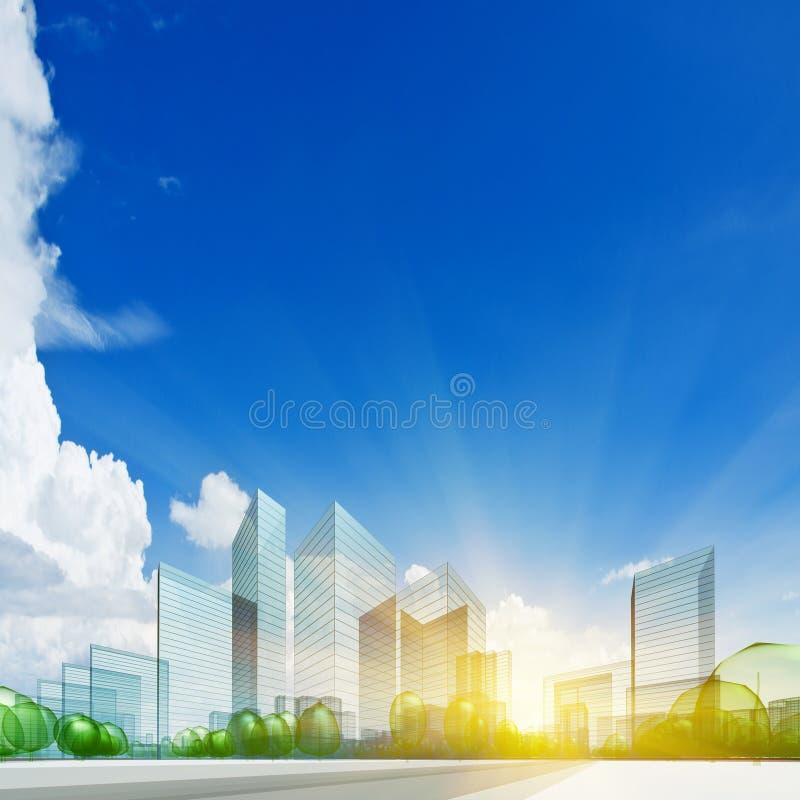 Stadtkonzept vektor abbildung