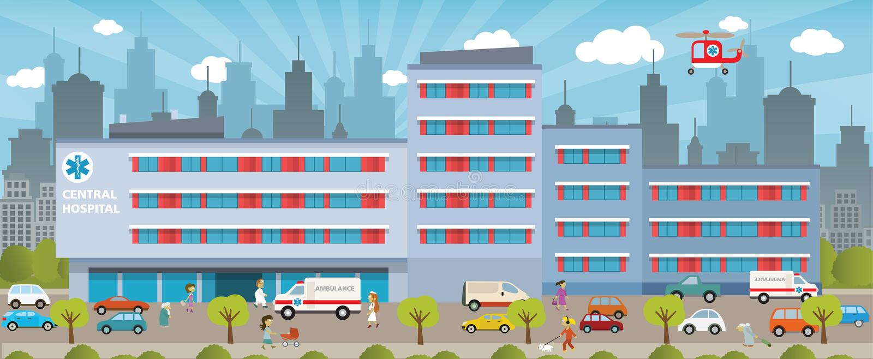 Stadtkrankenhaus lizenzfreies stockbild