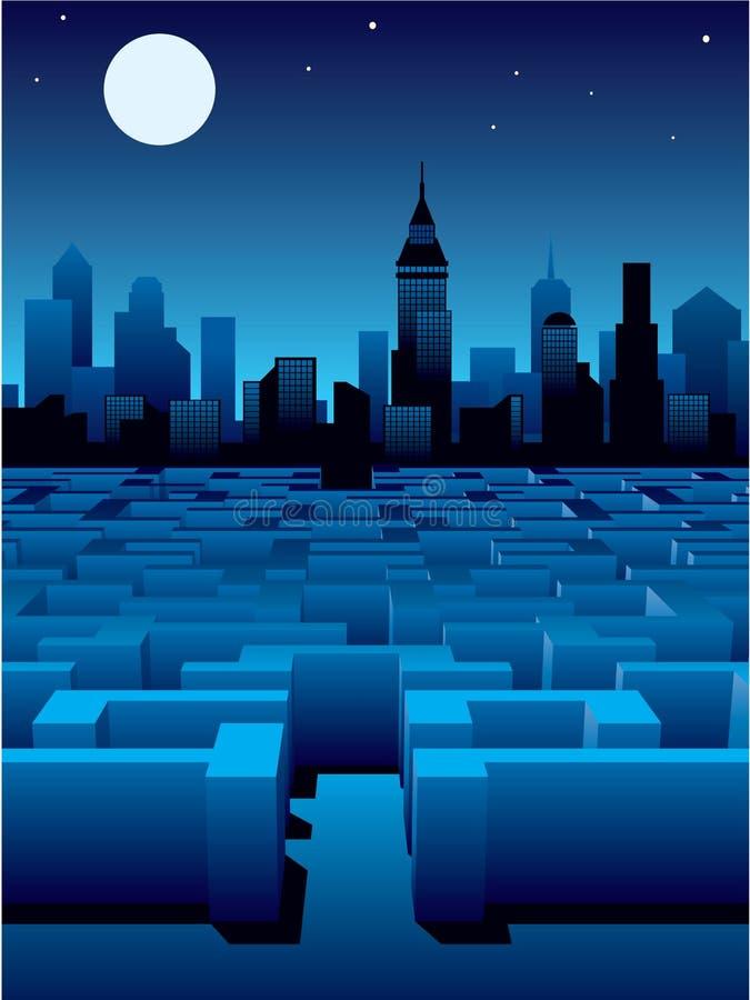 Stadtlabyrinth lizenzfreie abbildung