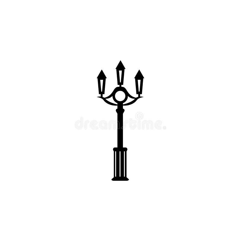 Stadtlampe von London-Ikone stock abbildung