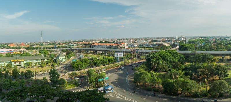 Stadtlandschaft von Surabaya lizenzfreies stockbild