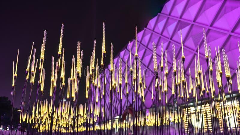 Stadtlandschaftweizen führte Beleuchtung stockfoto