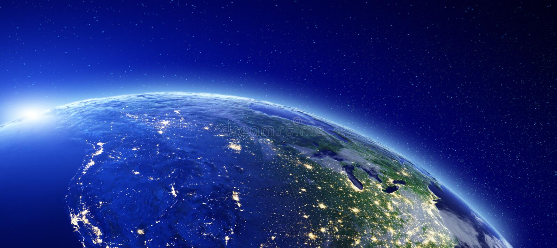 Stadtlichter - Kanada und USA lizenzfreie abbildung