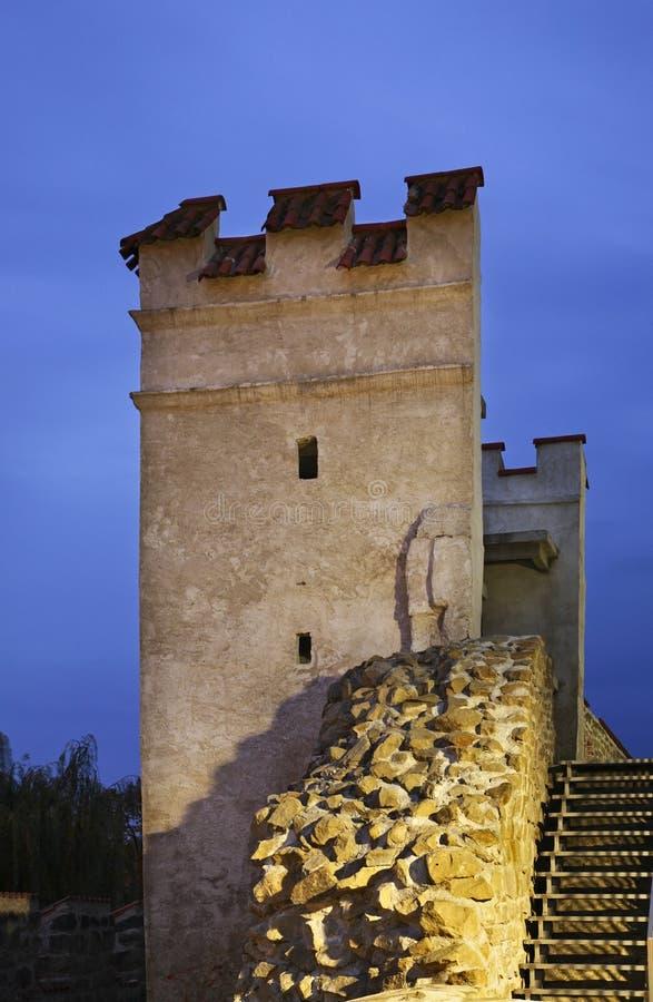 Stadtmauer in Bardejov slowakei stockbild