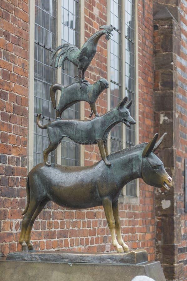 Stadtmusiker von Bremen stockbild