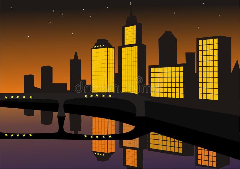 Stadtnacht vektor abbildung