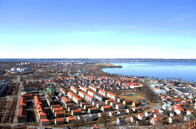 Stadtpanorama stockbild