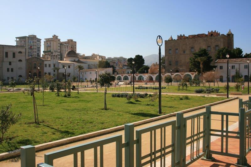 Stadtpark im La Zisa, Palermo stockbilder