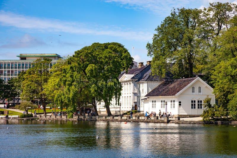 Stadtpark in Stavanger stockfotografie