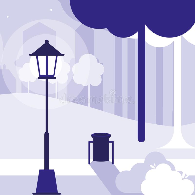Stadtparkentwurf lizenzfreie abbildung