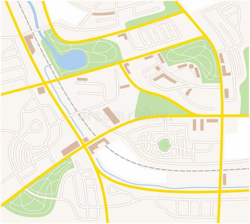 Stadtplan vektor abbildung