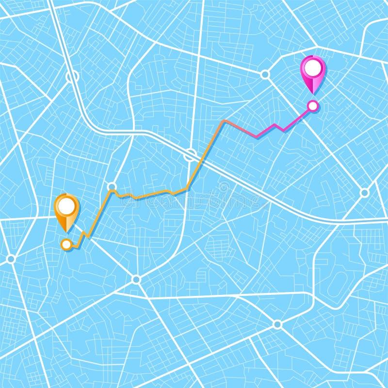 Stadtplannavigation lizenzfreie abbildung