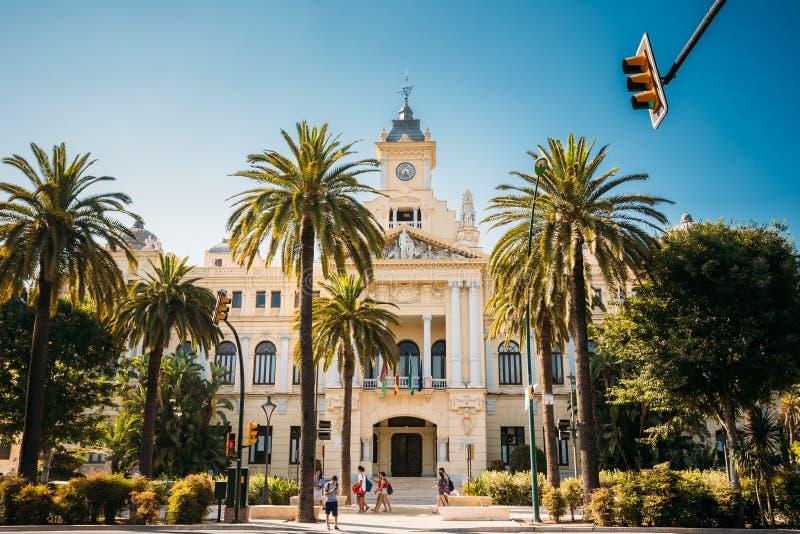 Stadtrat, Rathaus in Màlaga, Spanien stockbild