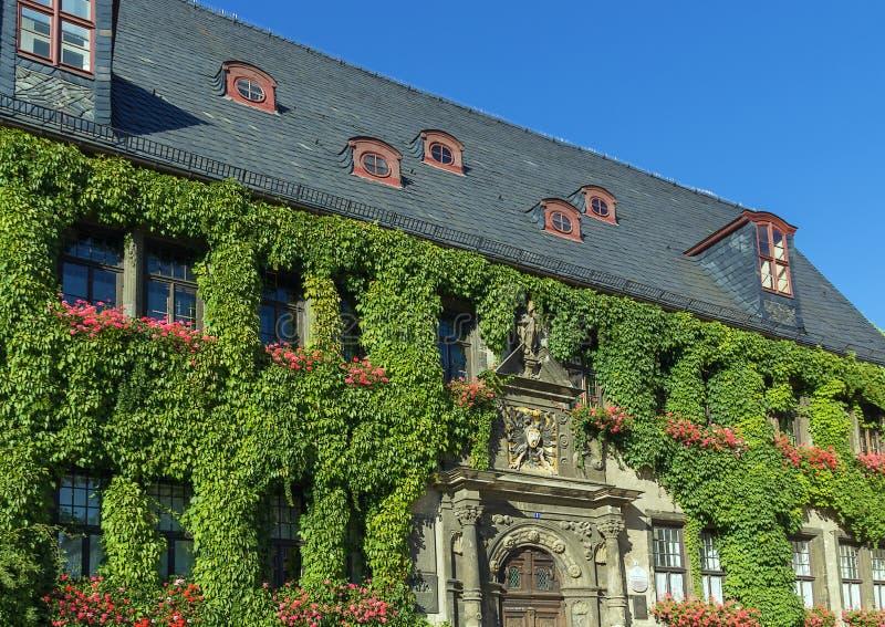 StadtRathaus von Quedlinburg, Deutschland lizenzfreie stockbilder