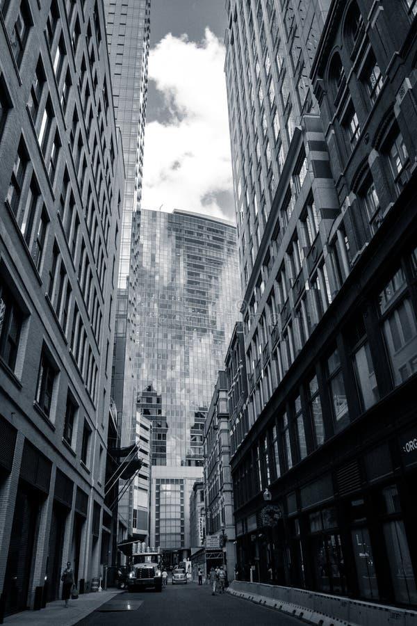 Stadtschlucht - Boston, USA stockfoto