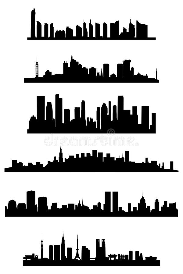 Stadtskyline lizenzfreie abbildung