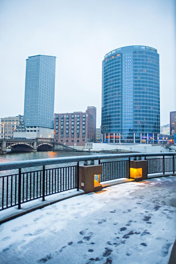 Stadtskyline und -Straßenbilder Grand Rapids Michigan stockfoto