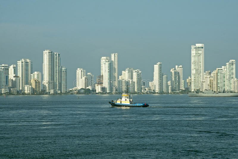 Stadtskyline von Cartagena stockbild