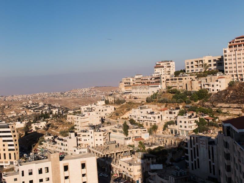 Stadtskylineteile von Bethlehem, Palästina lizenzfreie stockfotografie