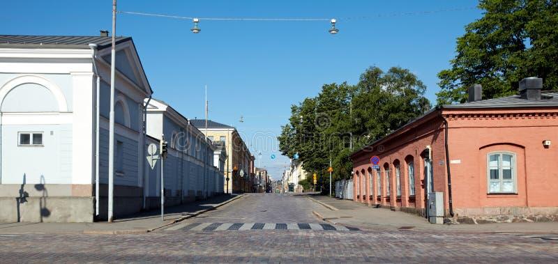 Stadtstraße in Helsinki, Finnland stockfoto