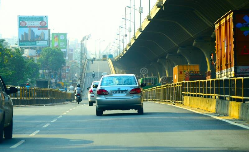 Stadtstraßen von Bangalore, unglaubliches Indien stockbild