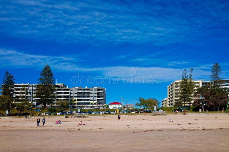 Stadtstrand am Hafen Macquarie Australien lizenzfreie stockfotografie