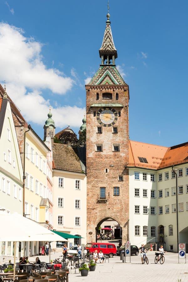 Stadttor von Landsberg am Lech stockbild