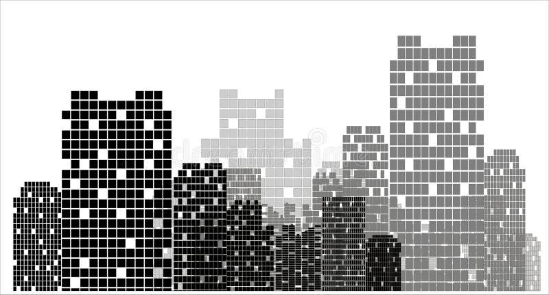 Stadtvektor lizenzfreie abbildung