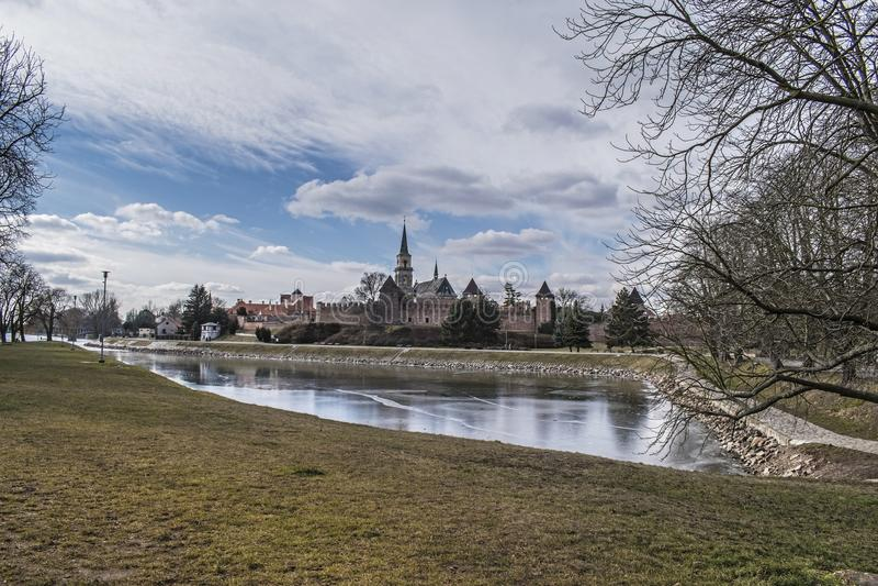 Stadtverstärkung in Nymburk, Tschechische Republik stockbilder