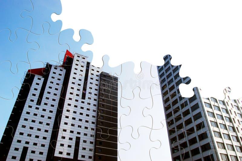Stadtwachstum lizenzfreie abbildung