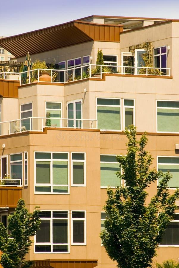 Stadtwohnung-Ansicht stockfotos