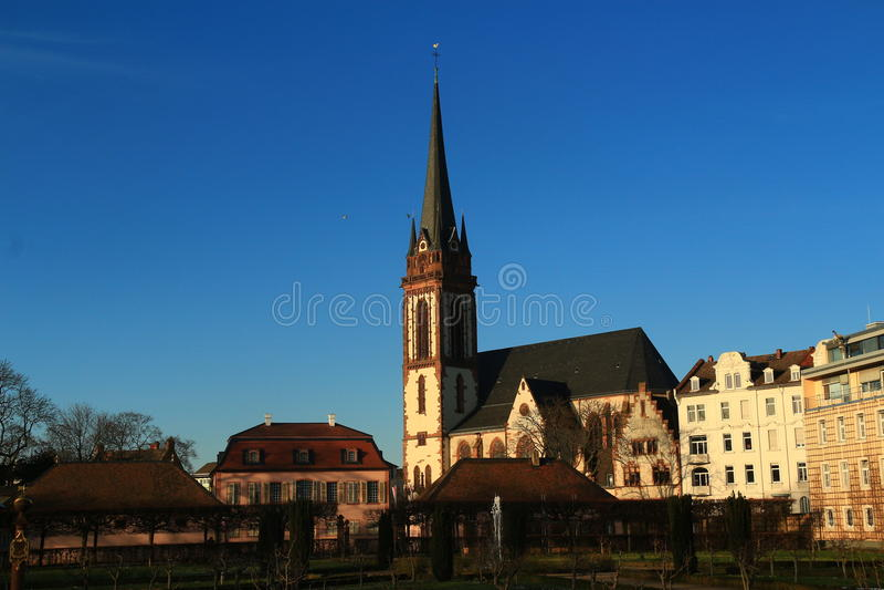 Stadtzentrum in Darmstadt, Deutschland stockbild