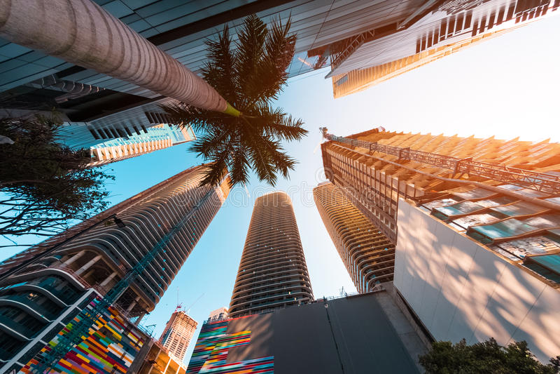 Stadtzentrum der Stadt von Miami lizenzfreie stockbilder