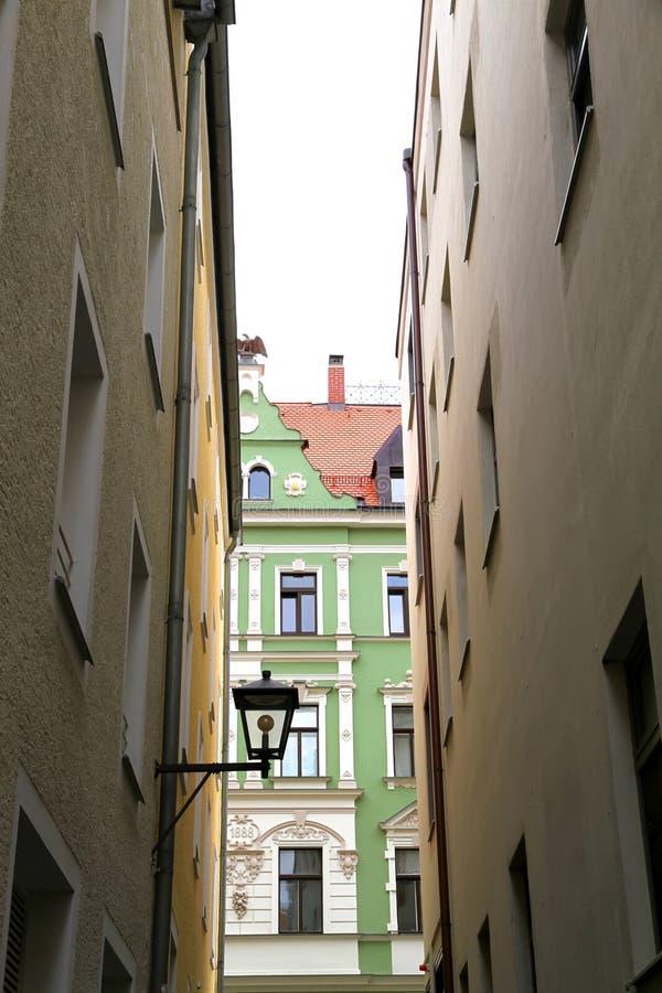 Stadtzentrum in Regensburg lizenzfreie stockfotografie