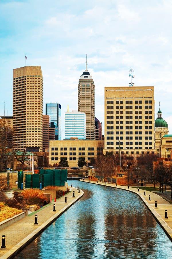 Stadtzentrum von Indianapolis stockfotografie