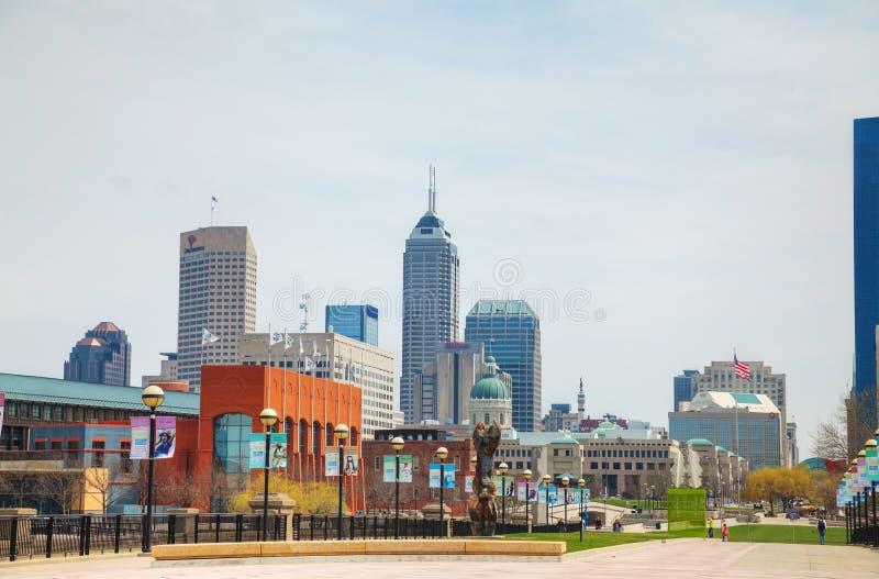 Stadtzentrum von Indianapolis stockbilder
