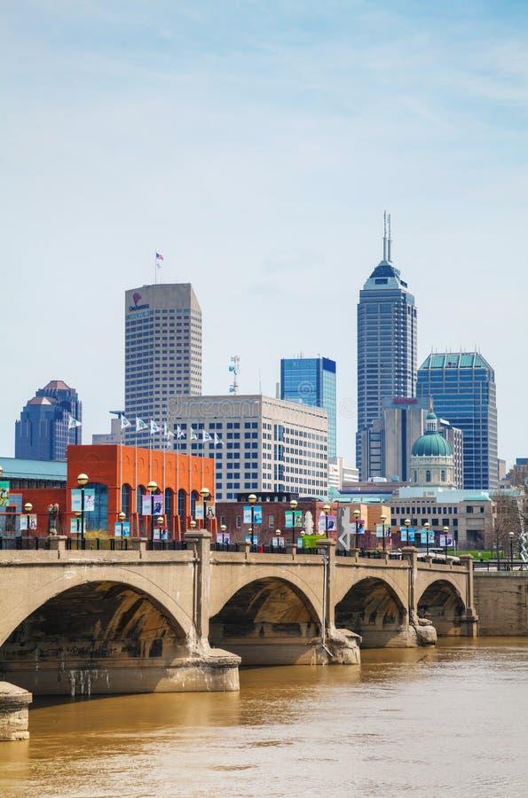 Stadtzentrum von Indianapolis lizenzfreie stockbilder