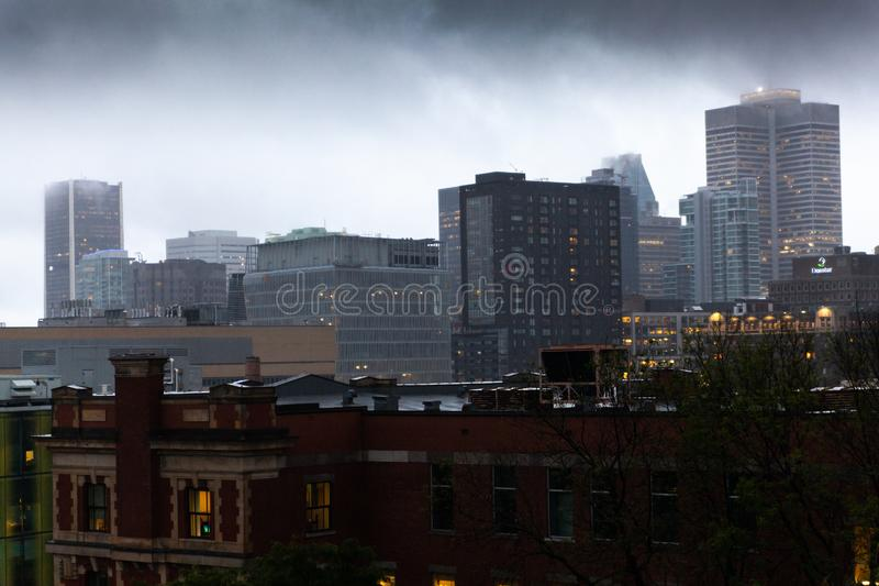 Stadtzentrum von Montreal lizenzfreie stockfotografie