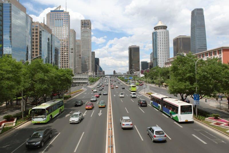 Stadtzentrum von Peking stockfotografie