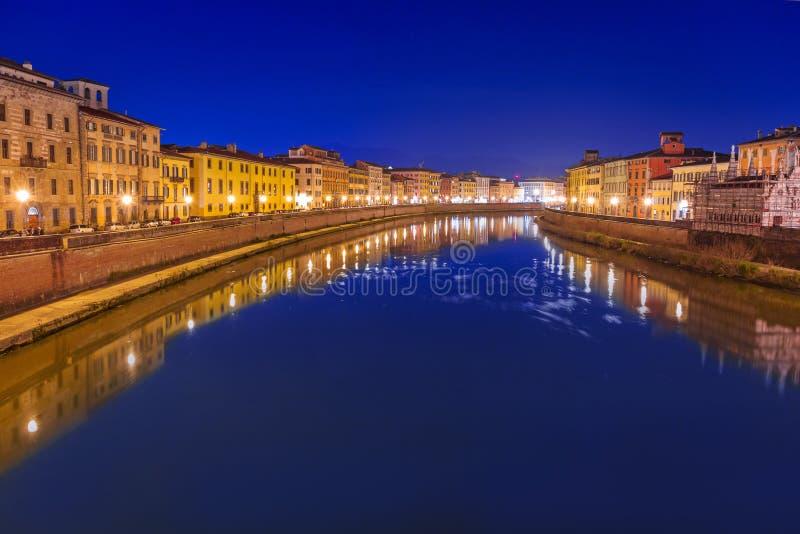 Stadtzentrum von Pisa, Italien lizenzfreies stockfoto