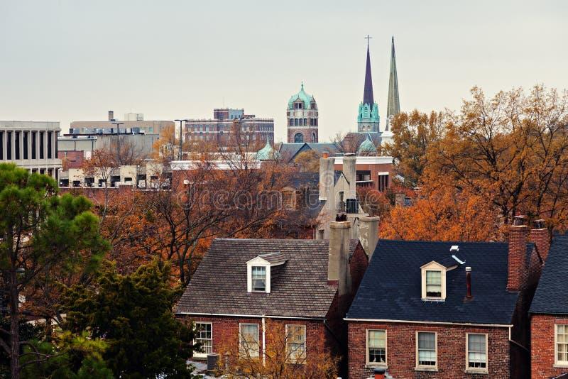 Stadtzentrum von Portsmouth lizenzfreies stockfoto