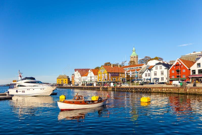 Stadtzentrum von Stavanger lizenzfreies stockbild